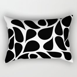 Small Abstract Black & White Foliage Pattern - Mix and Match with Simplicity of Life Rectangular Pillow