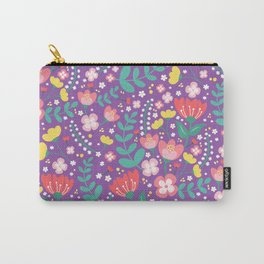 Flower lovers - Purple Carry-All Pouch