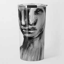 Surreal Distorted Portrait 05 Travel Mug