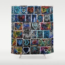 Abstract 20 Shower Curtain