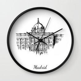 Royal palace Madrid Wall Clock
