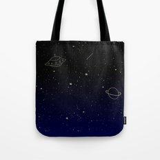 Space Trip to Saturn Tote Bag
