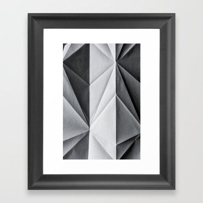 Folded Paper 1 Framed Art Print