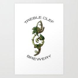 TREBLE CLEF BREWERY Art Print