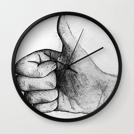 Little thumb's up Wall Clock
