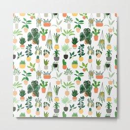 Houseplants pattern 1 Metal Print