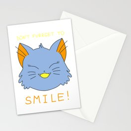 smile.cat (blue rawrsberry flavour) Stationery Cards