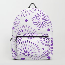 Abstract watercolor sparkles – ultra violet Backpack