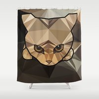 kitten Shower Curtains featuring Kitten  by Angel Decuir