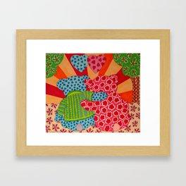 Valentine Bears Framed Art Print