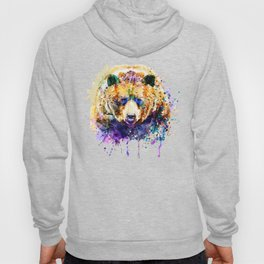 Colorful Grizzly Bear Hoody
