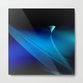 Vortex dancing on the blue Metal Print