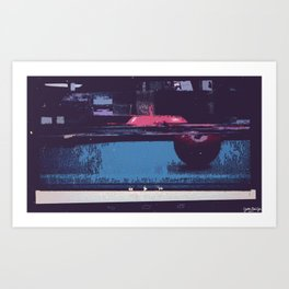 Game of Billiards Art Print