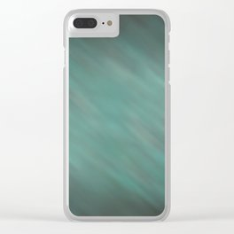 Abstract Soft Watercolor Gradient Ombre Blend 13 Teal, Blue, Green, and Black Clear iPhone Case