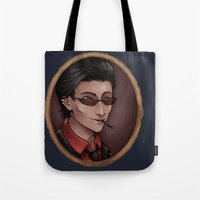 crowley Tote Bags featuring Crowley by Abbi Laura