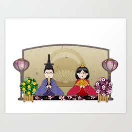 Happy Hina-Matsuri! Art Print