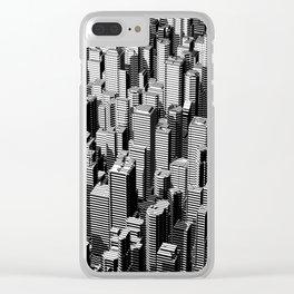 Urban Lines B&W Clear iPhone Case