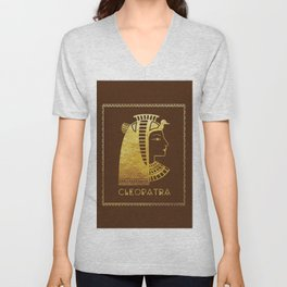 Cleopatra, the last active ruler of the Ptolemaic Kingdom of Egypt Unisex V-Neck