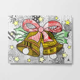 Coloured Christmas Bells Metal Print