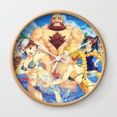Beach Street Fighter Wall Clock