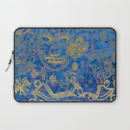 Mexican gold on blue Laptop Sleeve