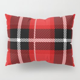 Red + Black Plaid Pillow Sham