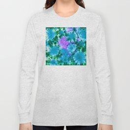 Blue Fun Guy Mushrooms Long Sleeve T-shirt