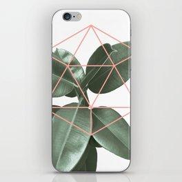 Geometric greenery iPhone Skin