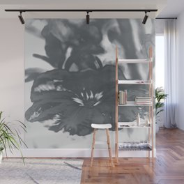 Bloom in Platinum Tone Wall Mural
