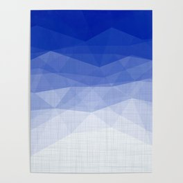 Imperial Lapis Lazuli - Triangles Minimalism Geometry Poster