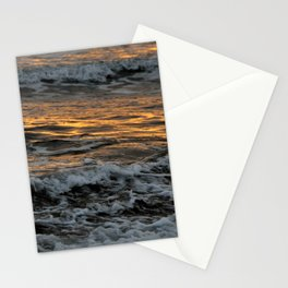 Gold Waves Stationery Cards