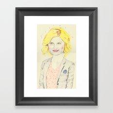 leslie knope Framed Art Print