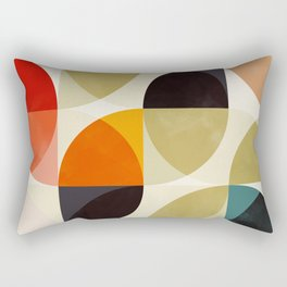 mid century color geometry shapes Rectangular Pillow