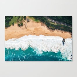 Waimea Bay Aerial Canvas Print