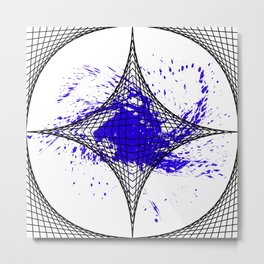 Star Blue Metal Print