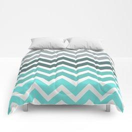 Tiffany Fade Chevron Pattern Comforters