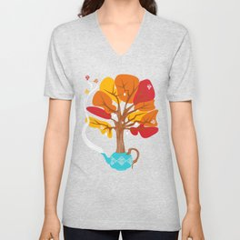 Tea Leaves Unisex V-Neck