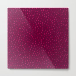 Raspberry Paint Drops Metal Print