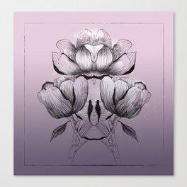 Purple bloom of Magnolia Canvas Print