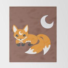 Kitsune Fox Throw Blanket