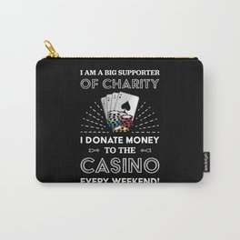 Funny Poker Casino Gambling Gift Carry-All Pouch