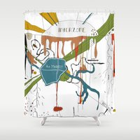 naked Shower Curtains featuring Naked Lunch by Sven Jaeckel