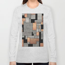 Random Pattern - Concrete and Copper Long Sleeve T-shirt
