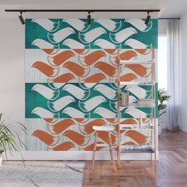 Foxhatched Wall Mural