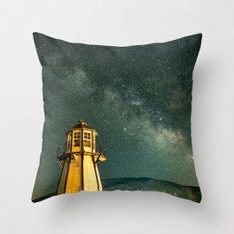 Mountain Light House Throw Pillow