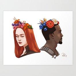 CATWS Sam and Nat Floral Crowns Art Print