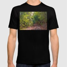 The curve in the rail Black Mens Fitted Tee MEDIUM