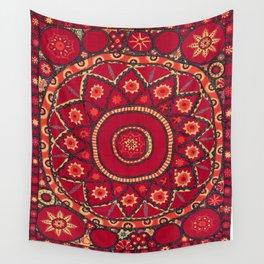Pskent Suzani Uzbekistan Embroidery Print Wall Tapestry