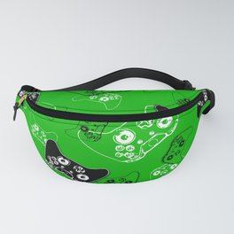 Video Game Green Fanny Pack