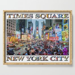 Times Square Tourists (with type) Serving Tray